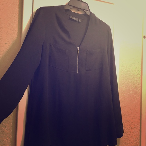 Apt. 9 Tops - Black long sleeve blouse